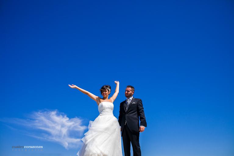 fotos de boda en Rota en Castillo de la Luna y Hotel Duque de Nájera - Cuatro Corazones Fotografía por Juanlu Corrales