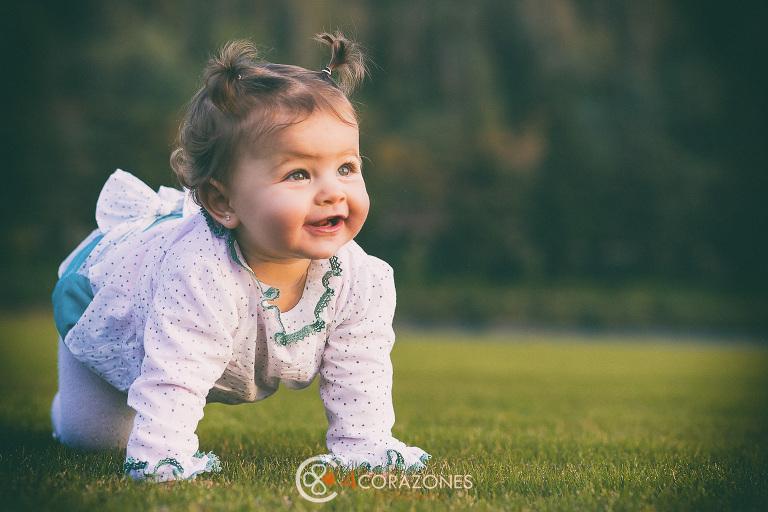 sesión fotográfica infantil en exteriores