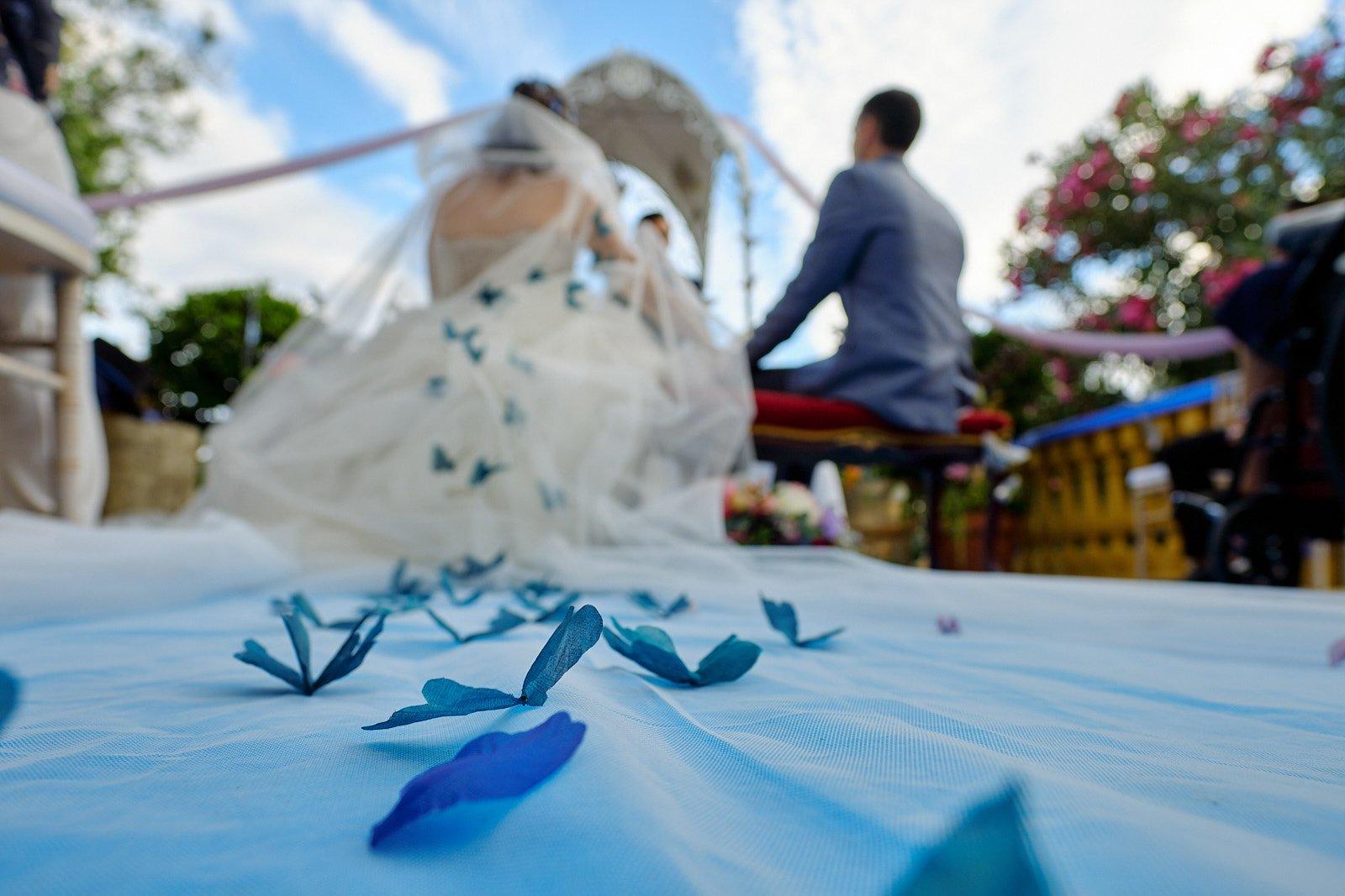 boda con mariposas