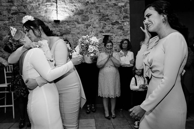 foto de boda emotiva