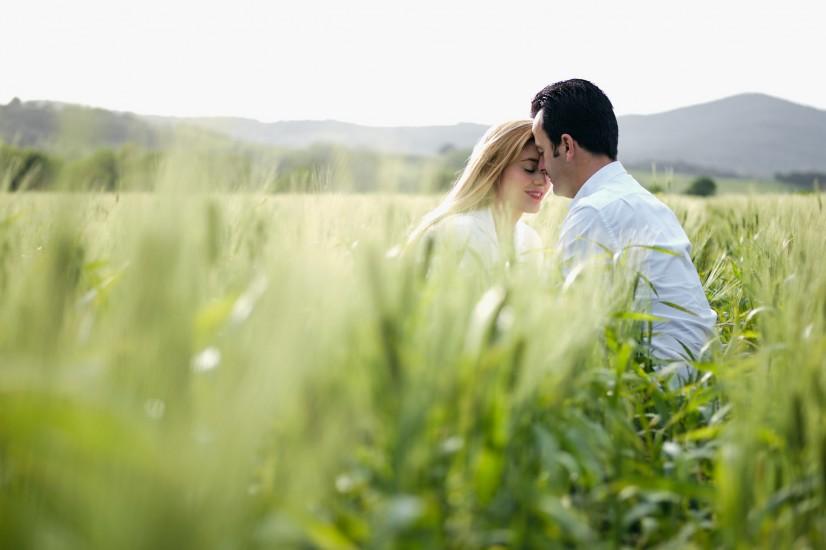 Preboda romántica en el campo