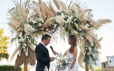 La espectacular boda en San Roque de Davinia y Johny